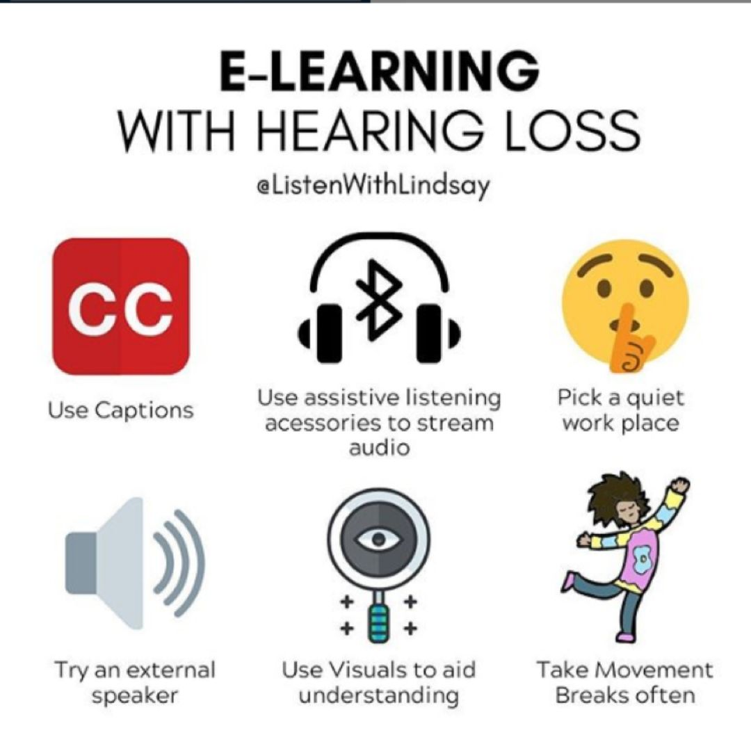 distance learning and hearing loss