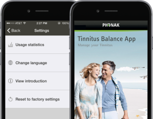 Phonak Tinnitus Balance app kan hjelpe deg regulere lydene du hører