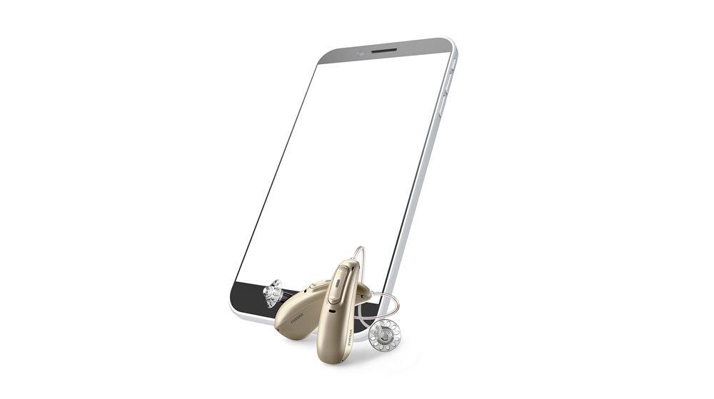Mobiltelefon kompatibel med høreapparat