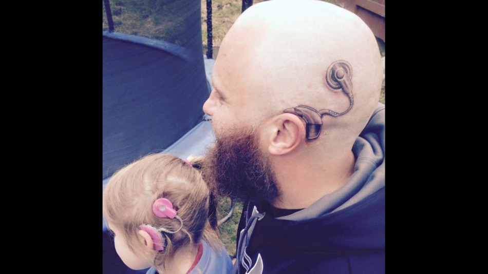 deaf parents cochlear implant tattoo