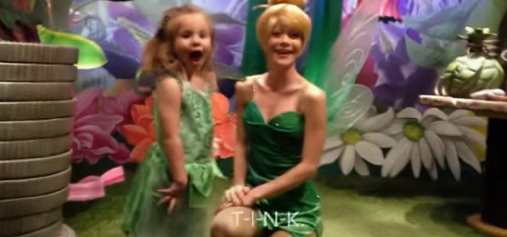 deaf girl at Disney communicates with sign language