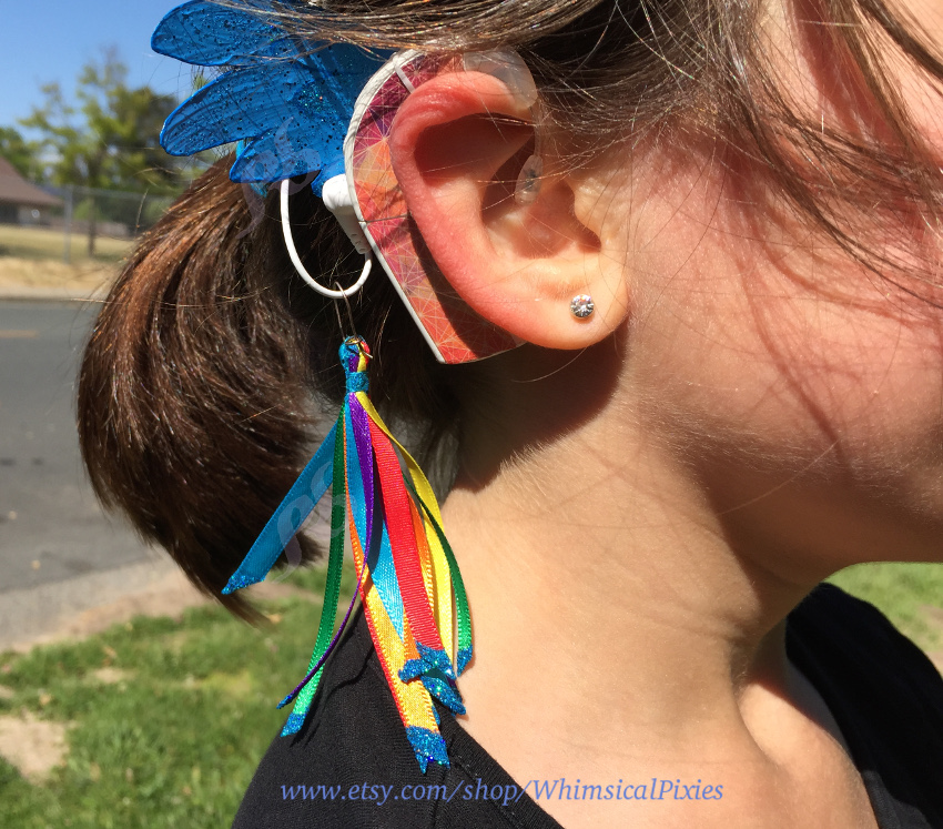 Whimsical wings for cochlear implant