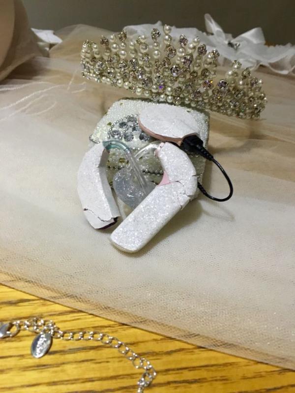 sign language wedding inspired hearing aids decoration