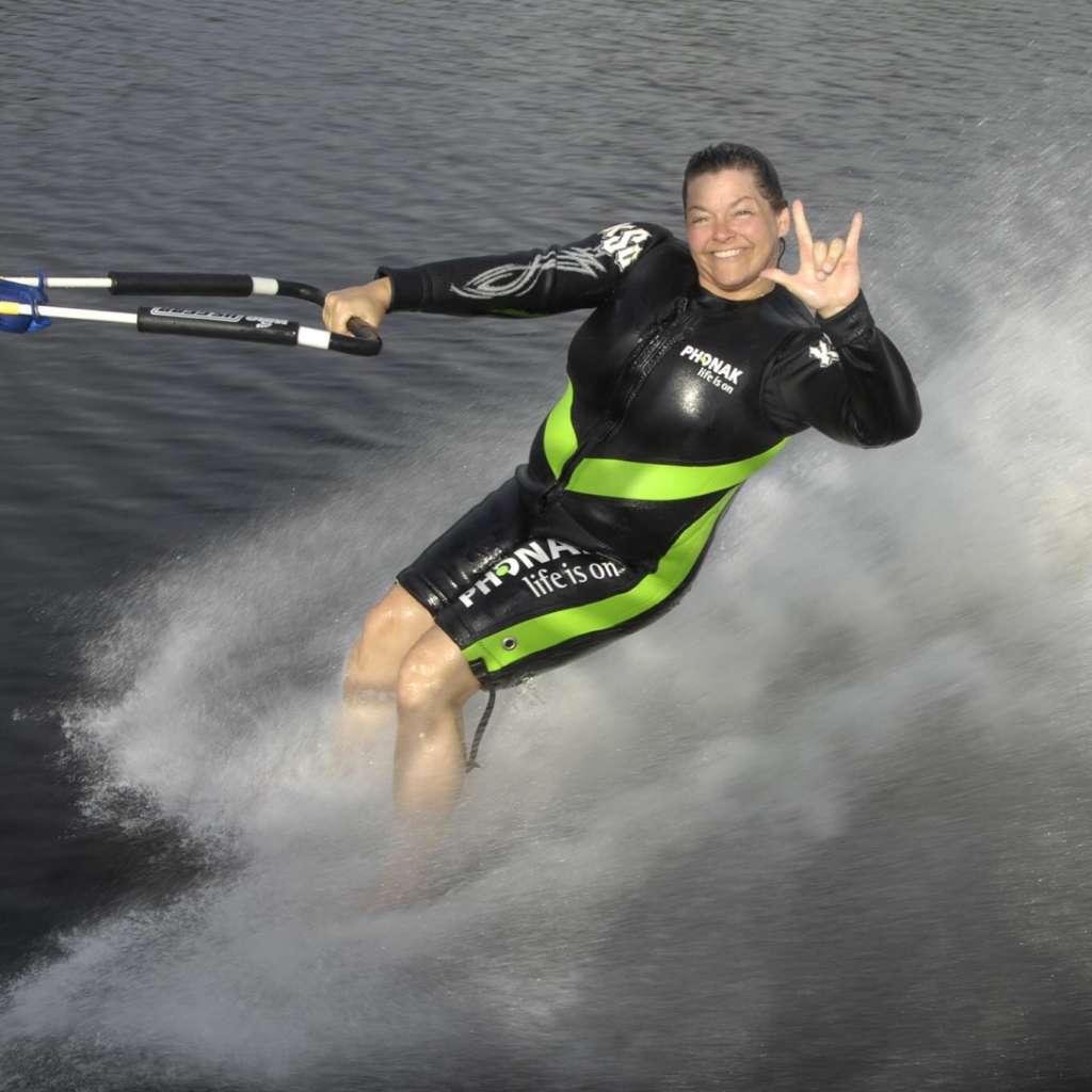 Deaf Barefoot Water Skier