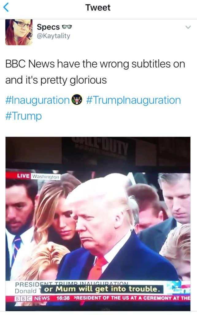 wrong trump inauguration captions
