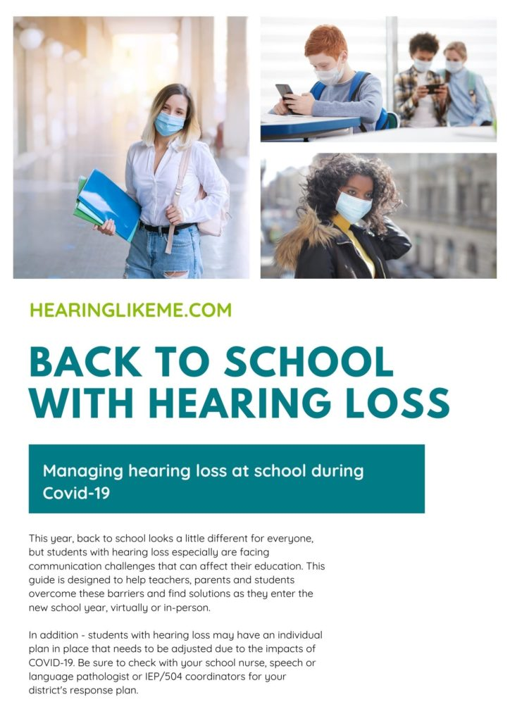 Back to School During Covid-19 for Students with Hearing Loss