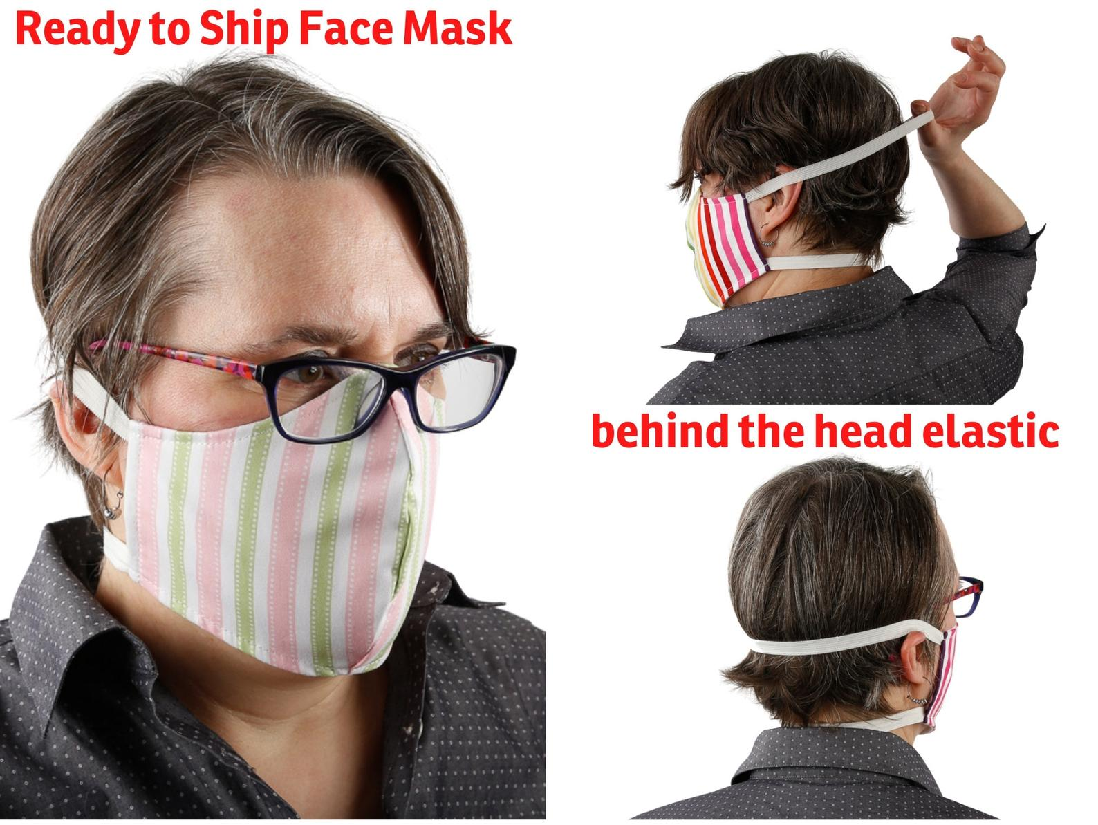Hearing aid-friendly face mask