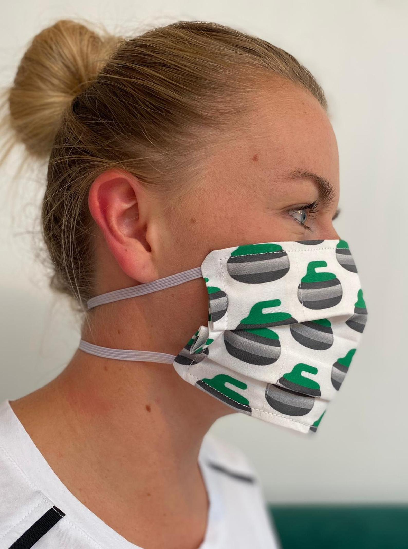 Behind-the-neck face mask
