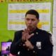 NYPD officer using sign language